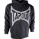 Tapout Fleece Hoodie in Charcoal