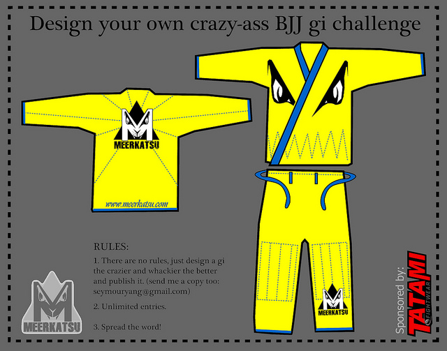 The DESIGN YOUR OWN CRAZY-ASS BJJ GI CHALLENGE!   MMAGearGuide.net