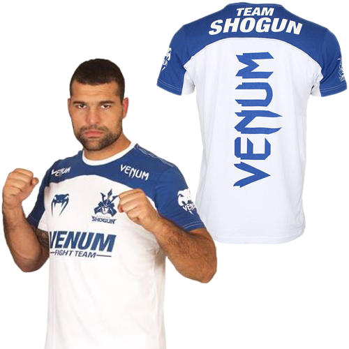 Venum Team Shogun White Blue Cotton T-Shirt